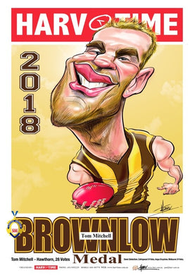 Tom Mitchell, 2018 Brownlow Harv Time Poster