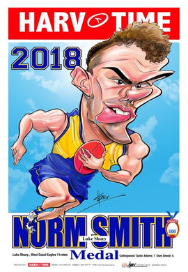 Luke Shuey, 2018 Norm Smith Medal, Harv Time Poster