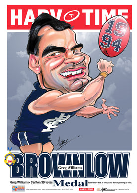 Greg Williams, 1994 Brownlow Medal, Harv Time Poster
