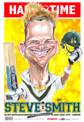 Steve Smith, Cricket, Harv Time Poster