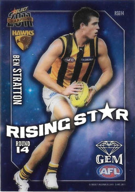 Ben Stratton, Rising Star Gem, 2011 Select AFL Champions