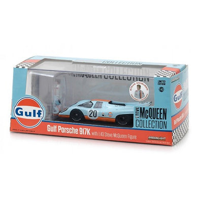 1970 Porsche 917K Gulf Oil with Steve McQueen Figure, 1:43 Diecast Vehicle