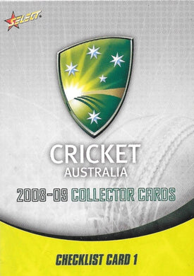 2008-09 Select Cricket Australia Base Set