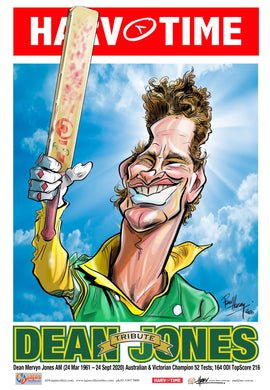 Dean Jones, Tribute, Cricket Harv Time Poster