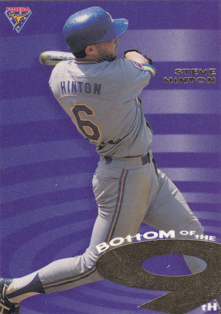 Steve Hinton, Bottom of the 9th, 1995 Futera ABL Baseball