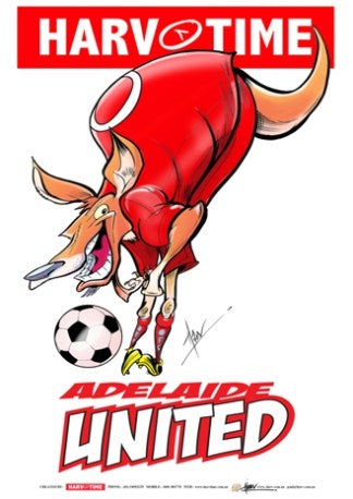 Adelaide United, A-League Mascot Harv Time Poster