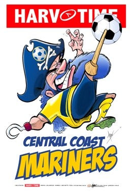 Central Coast Mariners, A-League Mascot Harv Time Poster