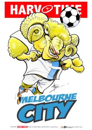 Melbourne City, A-League Mascot Harv Time Poster