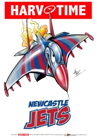 Newcastle Jets, A-League Mascot Harv Time Poster
