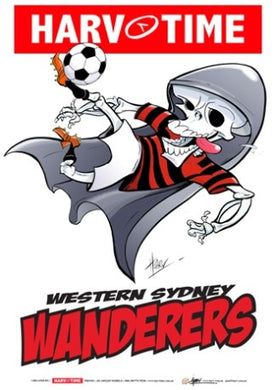 Western Sydney Wanderers, A-League Mascot Harv Time Poster