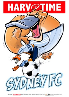 Sydney FC, A-League Mascot Harv Time Poster