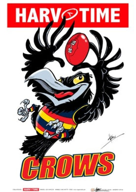 Adelaide Crows, Mascot Print Harv Time Poster