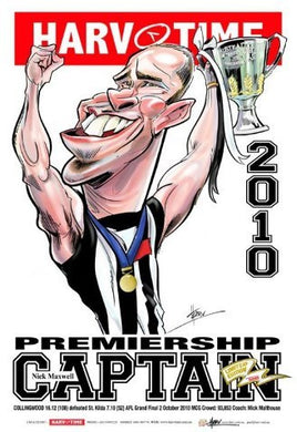 Nick Maxwell, 2010 Premiership Captain, Harv Time Poster