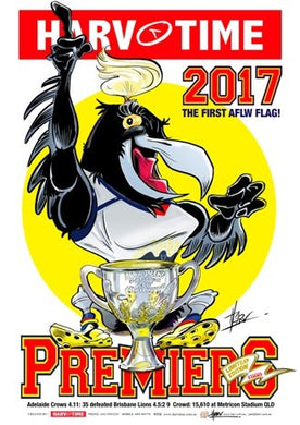 Adelaide AFLW 2017 Premiers, Harv Time Poster