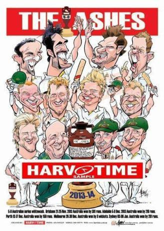 2013-14 Ashes Cricket, Harv Time Poster