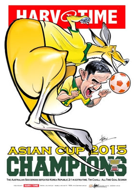 Socceroos 2015 Asian Cup Champions, Harv Time Poster