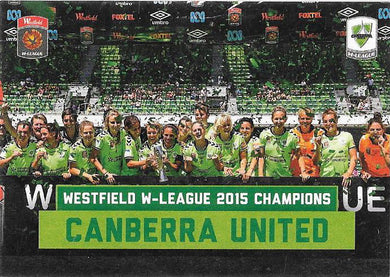 Canberra United, Champions Case Card, 2015-16 Tap'n'Play A-League FFA