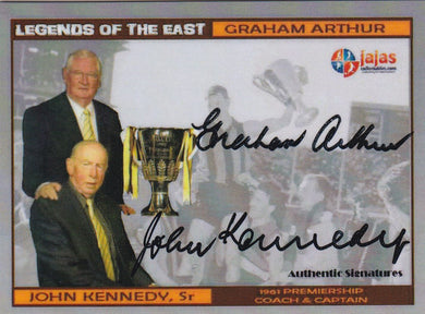 Graham Arthur & John Kennedy Sr, Legends of the East Dual, Ja Ja's Collectables