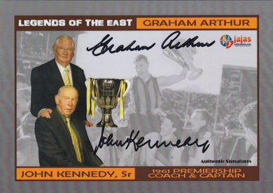Graham Arthur & John Kennedy Sr, Legends of the East Dual Over sized, Ja Ja's Collectables