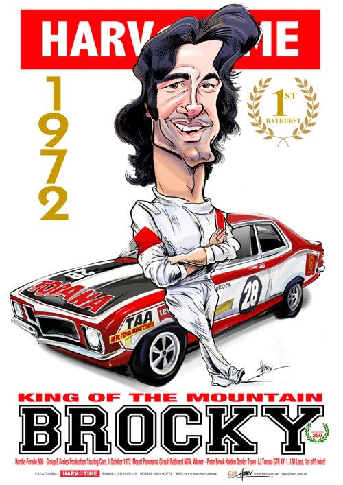Peter Brock, 1972, Harv Time Poster