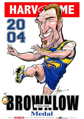 Chris Judd, 2004 Brownlow, Harv Time Poster