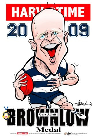 Gary Ablett, 2009 Brownlow Harv Time Poster