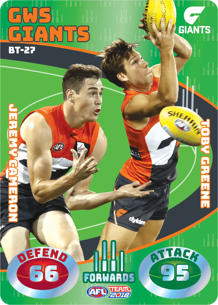 Cameron & Greene, Battle Teams, 2018 Teamcoach AFL