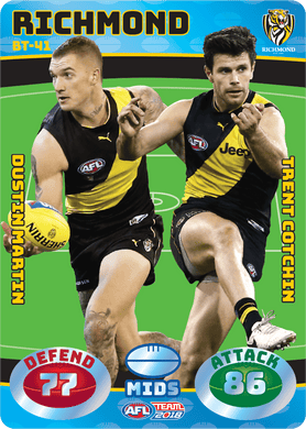 Martin & Cotchin, Battle Teams, 2018 Teamcoach AFL