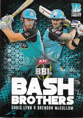 Chris Lynn & Brendon McCullum, Bash Brothers, 2017-18 Tap'n'play CA BBL 07 Cricket