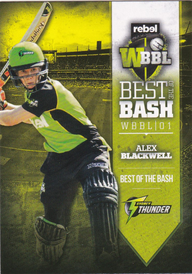2016-17 Tap'n'play CA BBL 05 Cricket, Best of the Bash, Alex Blackwell, AW-13