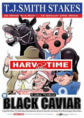Black Caviar, TJ Smith Stakes, Harv Time Poster
