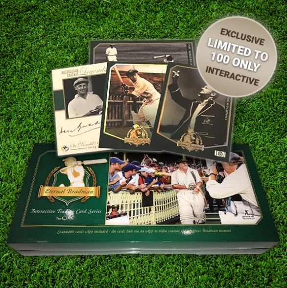 ETERNAL BRADMAN Card Set, 2017 Tap'n'Play Cricket, Limited to 100 Sets