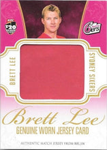 Brett Lee, Jersey Card, 2015-16 TapnPlay BBL CA Cricket