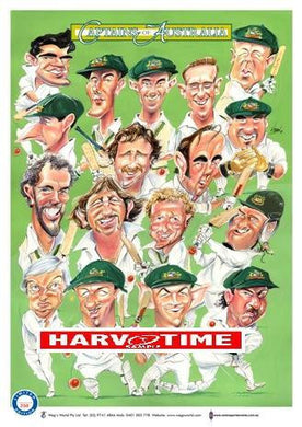 Captains of Australia Cricket, Harv Time Poster