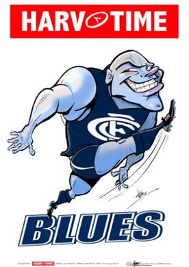 Carlton Blues, Mascot Print Harv Time Poster