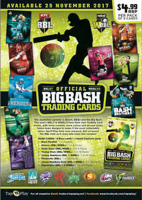2017-18 TapnPlay BBL CA Cricket, 10 box Case