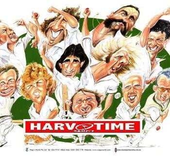 Characters of Australian Cricket, Harv Time Poster