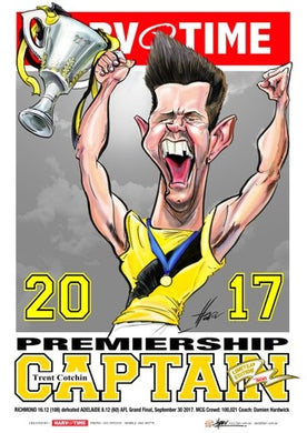 Trent Cotchin, 2017 Premiership Captain, Harv Time Poster