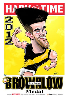 Trent Cotchin, 2012 Brownlow Medallist, Harv Time Poster