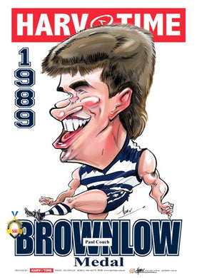 Paul Couch, 1989 Brownlow Medal, Harv Time Poster