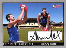 Dean Cox, Legends of the West, Ja Ja's Collectables of 20