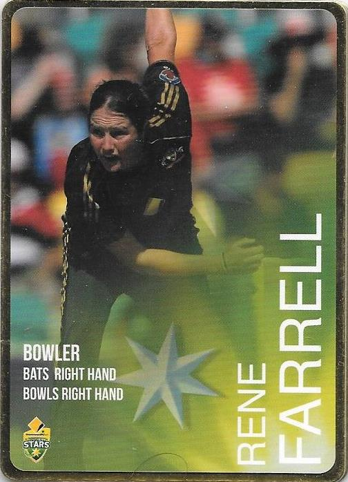 Rene Farrell, Gold Parallel, 2014-15 Tap'n'play CA BBL 04 Cricket