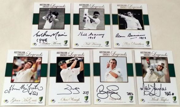 Australian Cricket Legends Signature 7 Card Set, 2014 TapnPlay