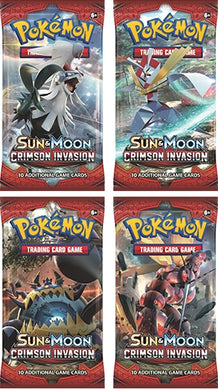 POKÉMON TCG Sun & Moon Crimson Invasion Booster Packet