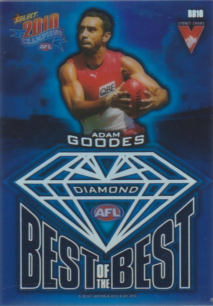 Adam Goodes, Best of the Best Diamond Gem, 2010 Select AFL Champions