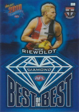 Nick Riewoldt, Best of the Best Diamond Gem, 2010 Select AFL Champions