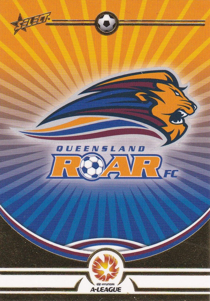 Queensland Roar FC Logo card, 2006 Select A-League Soccer