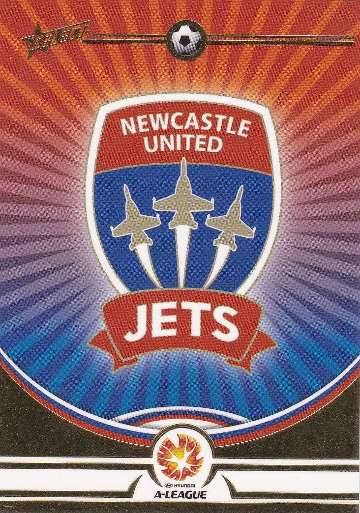 Newcastle United Jets Logo card, 2006 Select A-League Soccer