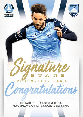 Milos Ninkovic, Signature Redemption, 2017-18 Tap'n'play Football Australia & A-League Soccer