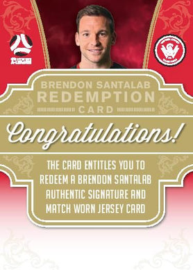 Brendon Santalab, Signature Jersey Redemption, 2017-18 Tap'n'play Football Australia & A-League Soccer